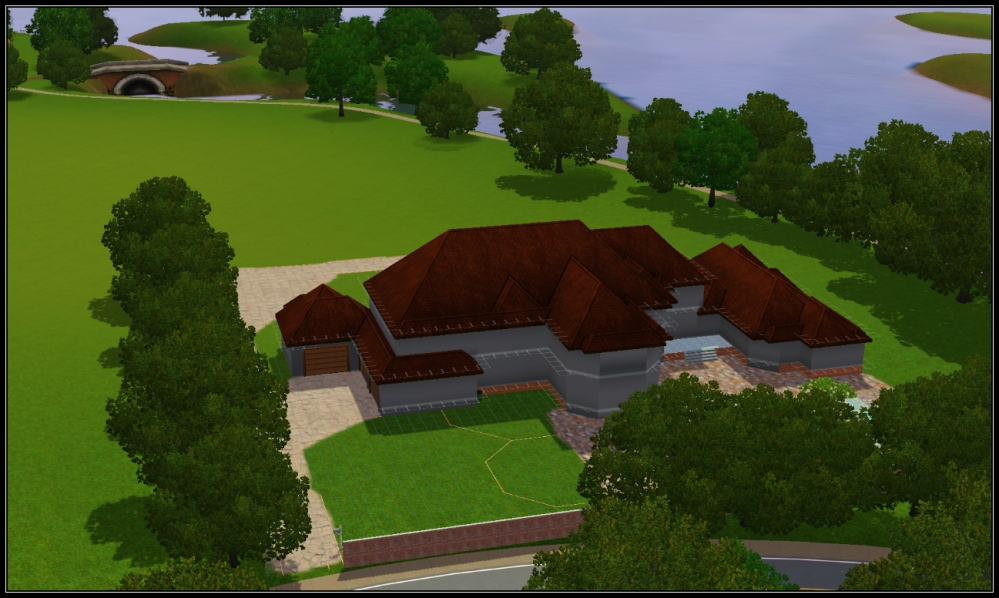 Villa Hermosa -- Sims 3 House Plan (1/4)