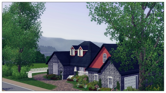 Traditional Home -- Sims 3 House Plan